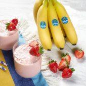 Smoothie rapide à la banane Chiquita et à la fraise