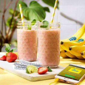 Smoothie à la banane Chiquita et aux fraises
