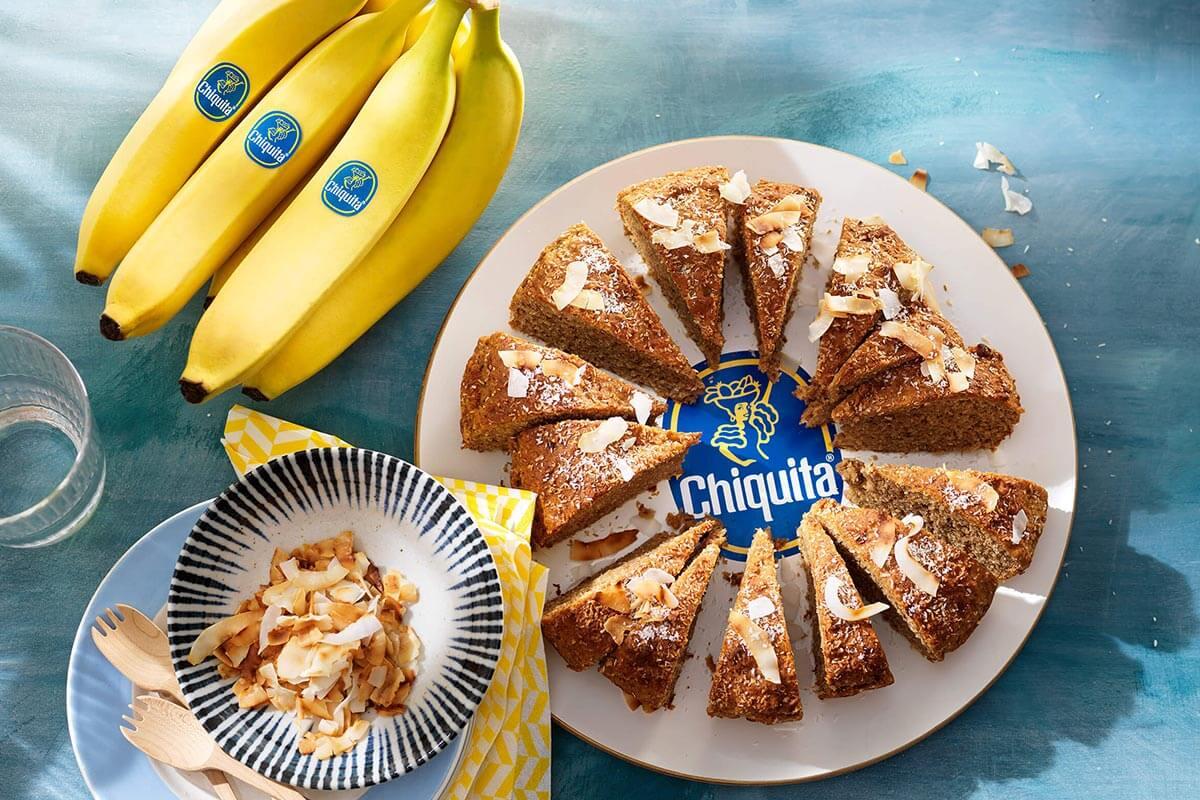 Gâteau végétalien aux bananes Chiquita et à la noix de coco
