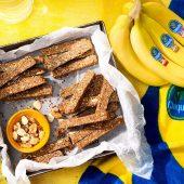 Pre Workout No-Bake Chiquita Banana Nut Diamond Protein Bars