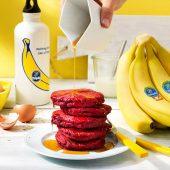 Post Workout Beet Chiquita Banana Pancakes