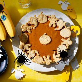 Tarte d'Halloween facile à la citrouille et aux bananes Chiquita