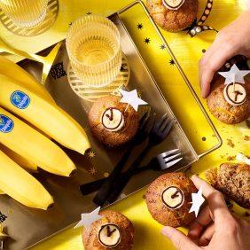 Muffins façon gâteau aux bananes de Chiquita