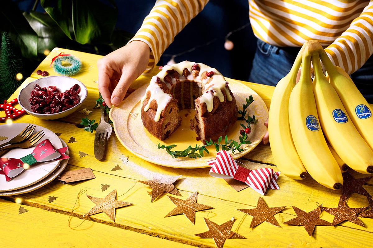 Gâteau aux bananes moelleux de Noël par Chiquita
