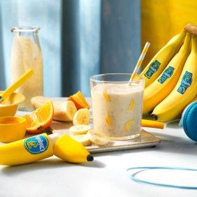 Smoothie à la banane Chiquita, à l'orange et au miel