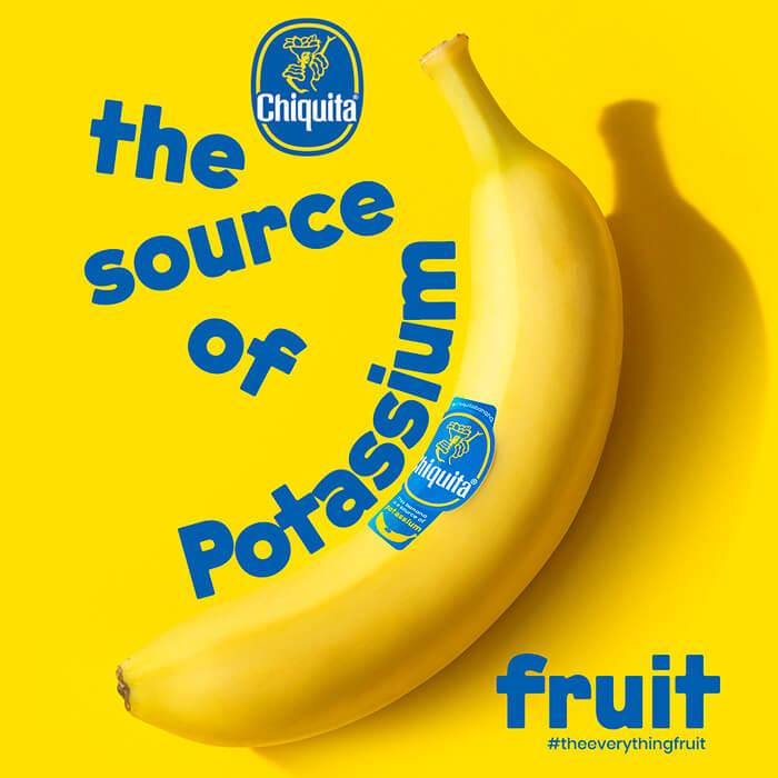 Banane Chiquita: source de potassium