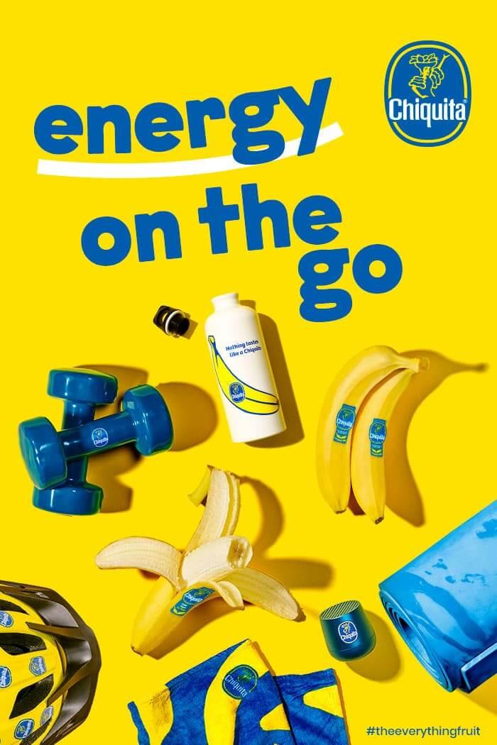 Banane Chiquita: énergie sur le pouce