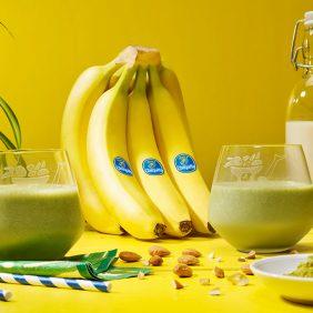 Smoothie glacé à la banane et au matcha de Chiquita