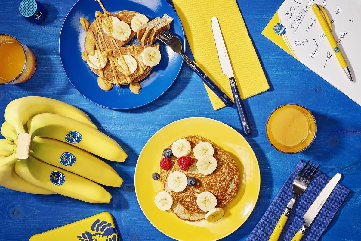Crêpes protéinés à la banane après l'entraînement, de Chiquita