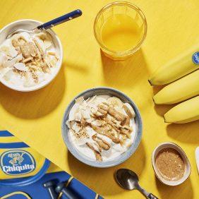 Bol énergétique pré-entraînement au beurre d'amande, banane et noix de coco de Chiquita
