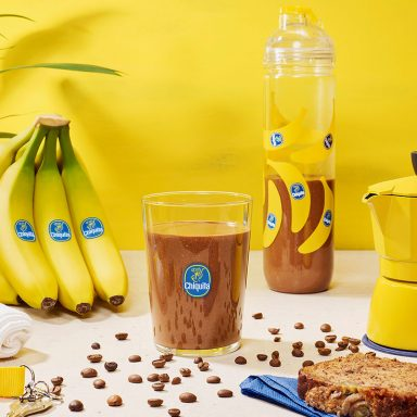 Milk-shake protéiné banane & moka de Chiquita pour l'entraînement