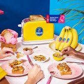Pain grillé végétalien à la banane Chiquita et aux graines de tournesol